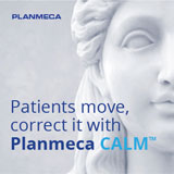 Planmeca CALM advertisement image of a statue